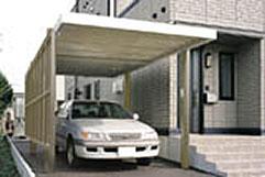 実用的且つお洒落な駐車スペース