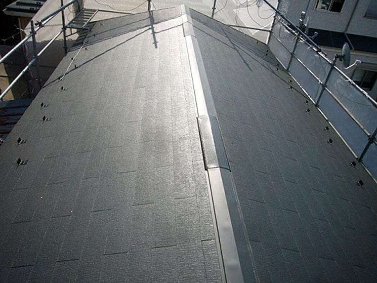 コロニアル屋根の葺き替え工事